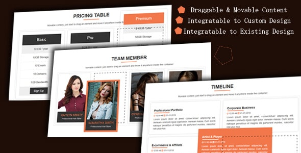 Draggable Div - Movable Website Content - CodeCanyon Item for Sale