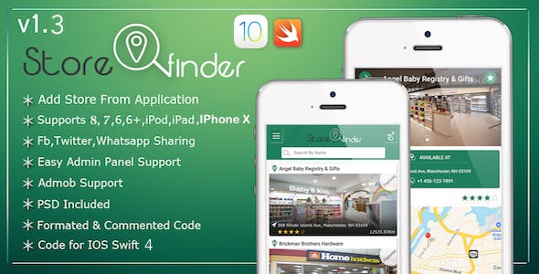 Store Finder IOS Full Application - Swift 4