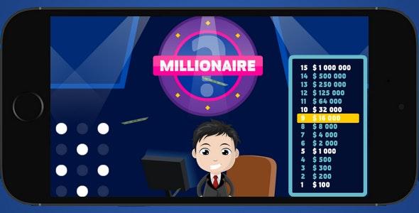 Millionaire 2018 - tv quiz, AdMob - CodeCanyon Item for Sale