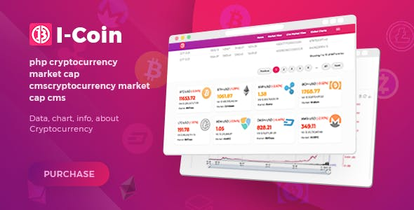 Icoin - php cryptocurrency market cap cms