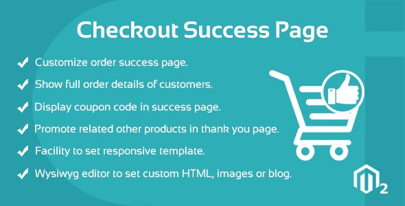 Success Page Magento 2 Extension by cynoinfotech | CodeCanyon