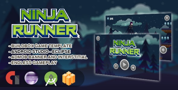 Ninja Runner - Android Studio + Eclipse + Buildbox Template - CodeCanyon Item for Sale