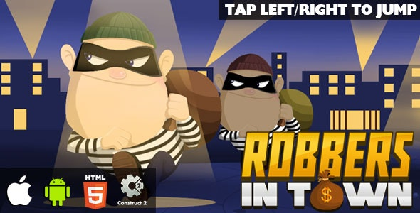 Robbers in Town - HTML5 Game (CAPX) - CodeCanyon Item for Sale