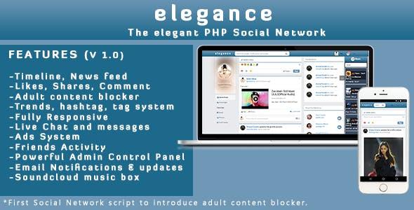 Elegance | The Elegant PHP Social Network System