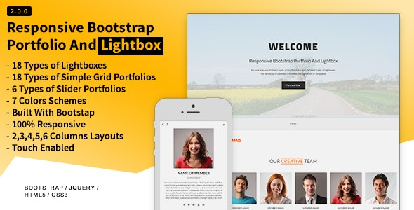 Responsive Bootstrap Portfolio And Lightbox - CodeCanyon Item for Sale