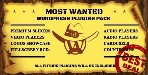 Most Wanted WordPress Plugins Pack - CodeCanyon Item for Sale