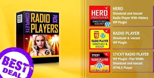 HTML5 Radio Players WordPress Plugins Bundle - CodeCanyon Item for Sale