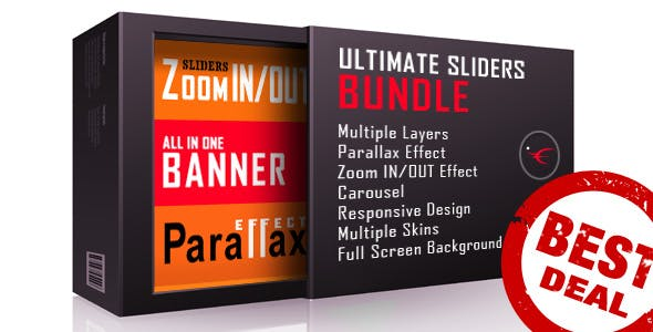 Ultimate Sliders Bundle - Layers, Parallax, Zoom