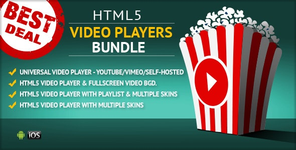 HTML5 Video Players Uber Bundle - CodeCanyon Item for Sale