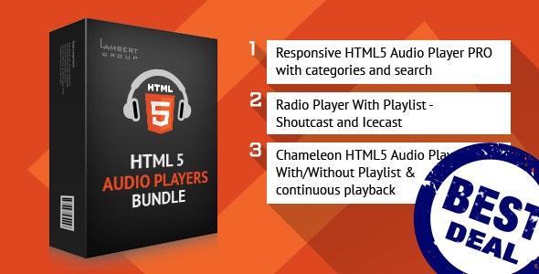 HTML5 Responsive Audio Players Bundle - CodeCanyon Item for Sale