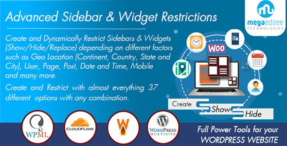 WordPress Sidebar and Widgets Visibility | Create Sidebar, Hide Sidebar and Hide Widgets - CodeCanyon Item for Sale