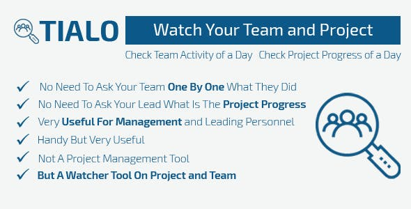Tealo - Team Activity Watcher
