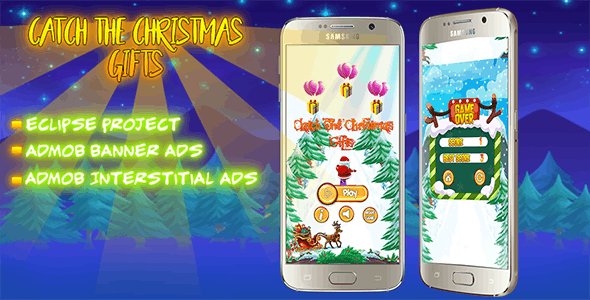Catch The Christmas Gifts + Eclipse Project + Admob + Reskin