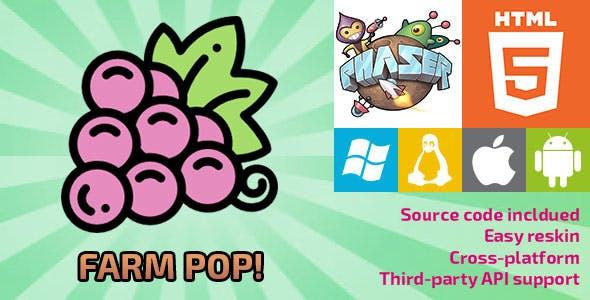 Farm Pop! - HTML5 Game - Phaser