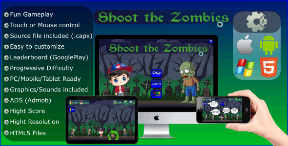 Shoot The Zombies (CAPX - Mobile and HTML5)