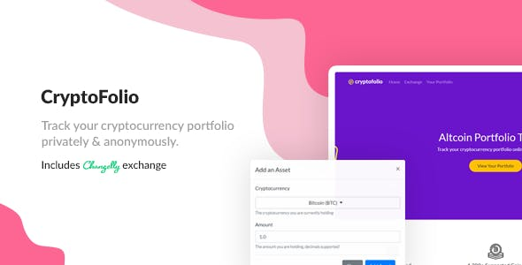 CryptoFolio - Cryptocurrency Portfolio Tracker & Exchange