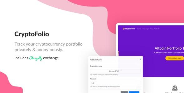 CryptoFolio - Cryptocurrency Portfolio Tracker & Exchange - CodeCanyon Item for Sale