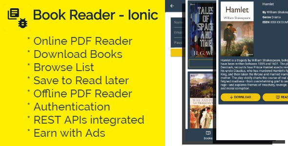 Book Reader - Ionic 3 App