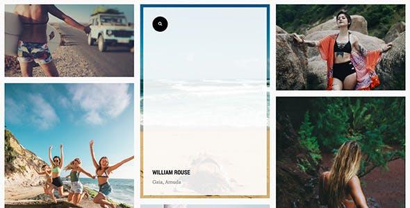 Gaia - Image Gallery TZ Portfolio+ Template