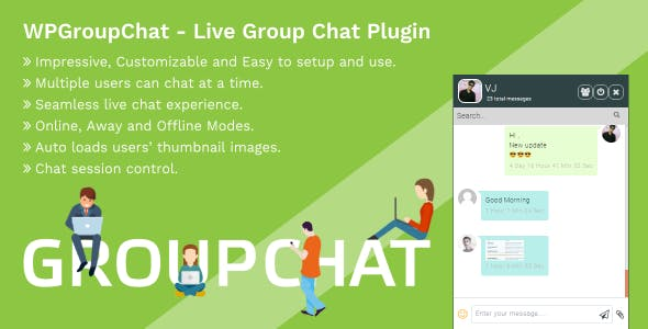 WPGroupChat - Live Group Chat WordPress Plugin