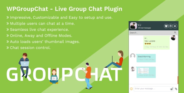 WPGroupChat - Live Group Chat WordPress Plugin - CodeCanyon Item for Sale