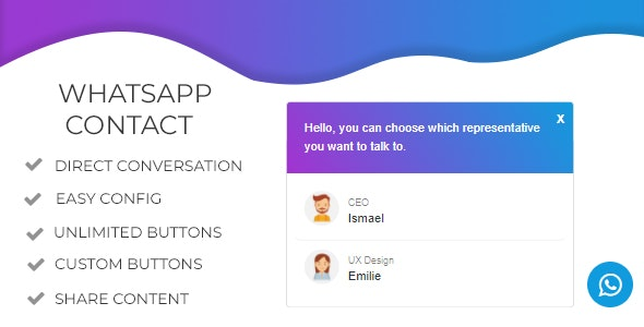 WhatsApp Chat WordPress Plugin - WhatsApp Contact Chat - CodeCanyon Item for Sale