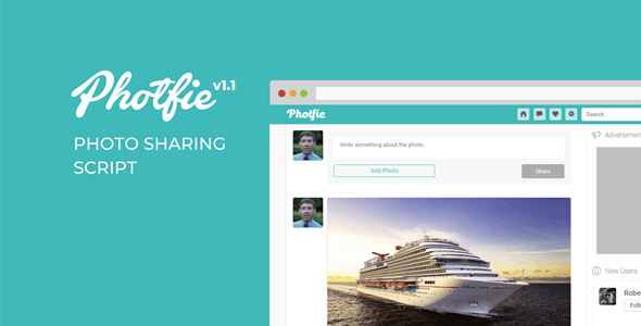 Photfie - A Photo Sharing Script - CodeCanyon Item for Sale