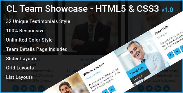 CL Team - Team Showcase HTML Element - CodeCanyon Item for Sale