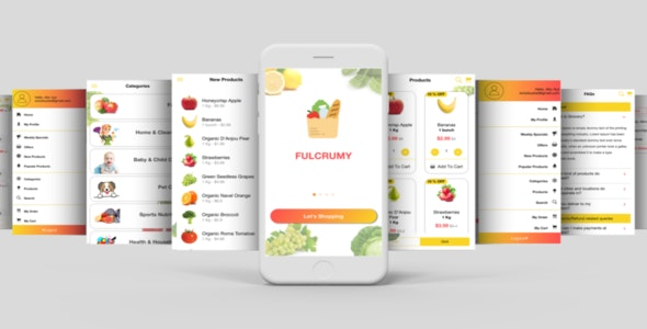 Complete Multipurpose eCommerce Template UI Grocery App Supports Multiple Language i18n - CodeCanyon Item for Sale