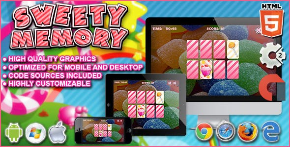 Sweety Memory - Construct 2 HTML5 Game