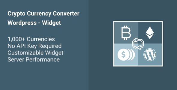Cryptocurrency Converter WP Widget