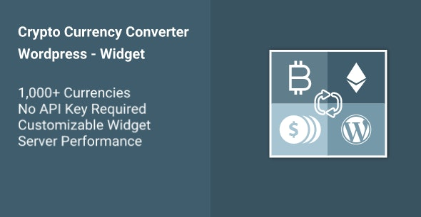 Cryptocurrency Converter WP Widget - CodeCanyon Item for Sale
