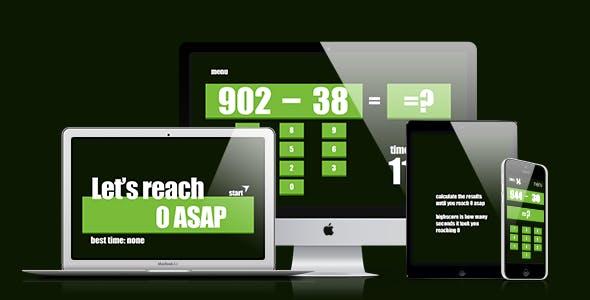 Math Game: Let's Reach Zero ASAP