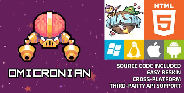 Omicronian - HTML5 Game - Phaser