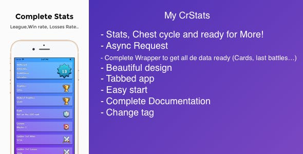 My CrStats for Clash Royale - Stats, Chest Cycle and More!