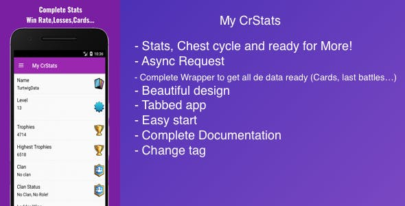My CrStats for Clash Royale - Stats , Chest Cycle and More!