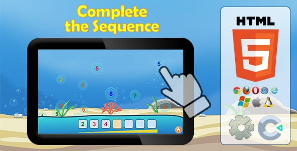 Complete the sequence - HTML5 Educational game