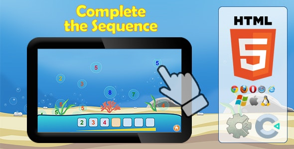 Complete the sequence - HTML5 Educational game - CodeCanyon Item for Sale