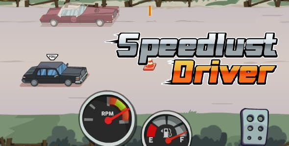 Speedlust Driver - HTML5 Game (CAPX)