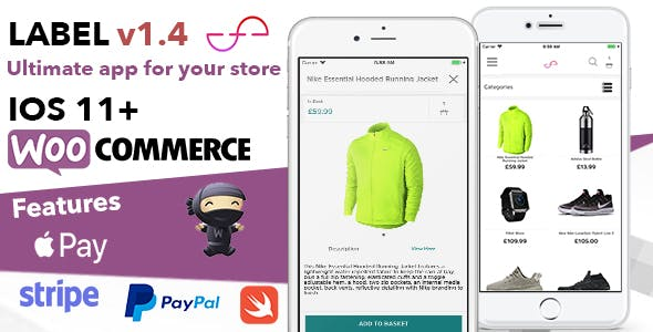Label App For Woocommerce Shops and Ecommerce Sites - Written In Swift XCode IOS