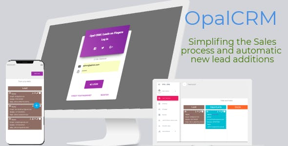 OPAL CRM - Self hosted Smart CRM application for  Lead Management