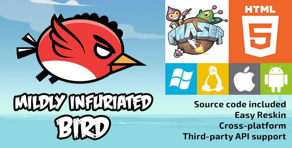Mildly Infuriated Bird - HTML5 Game - Phaser