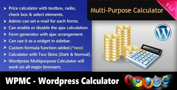Wordpress Multipurpose Calculator - CodeCanyon Item for Sale