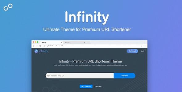 Infinity - Premium URL Shortener Theme by Themelated | CodeCanyon