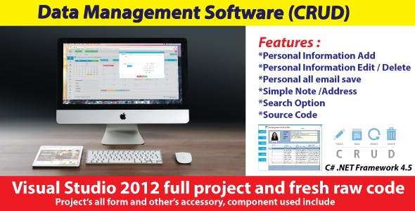 Data Management Software | Contact Book with full project & source code