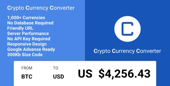 Crypto Currency Converter - CodeCanyon Item for Sale