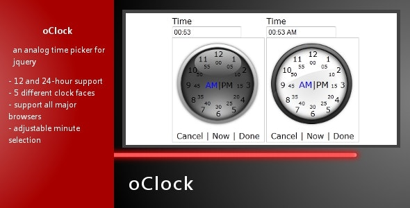 oClock - Analog Time Picker - CodeCanyon Item for Sale