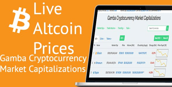 Gamba Cryptocurrency Market Capitalizations and Altcoin  prices