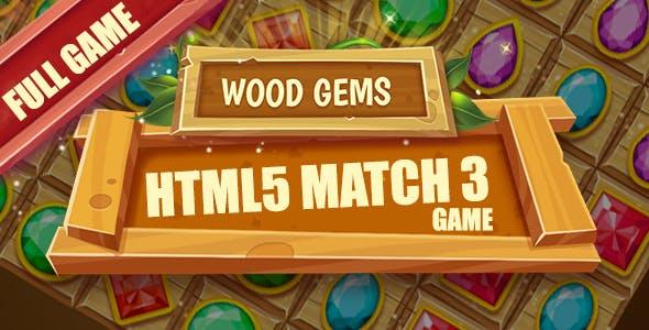 Wood Gems HTML5 Game [ 25 levels ]