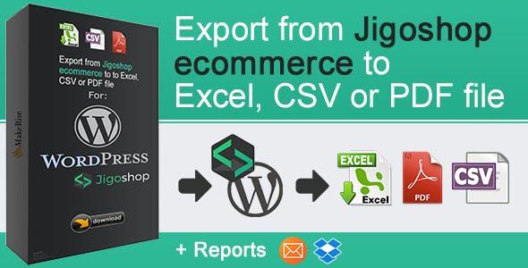 Jigoshop eCommerce Export